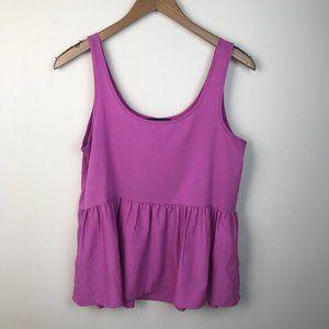 American Eagle Pink Babydoll Peplum Top Size M